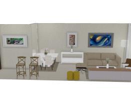 Salas integradas pequenas - Graziela Lara
