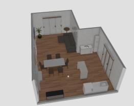 Cozinha e sala estar/jantar troca