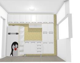 balcão ao lado da geladeira