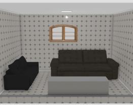 sala com 2 sofas