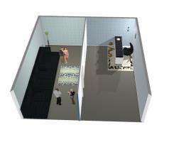quarto de 2 cômodos imaginário