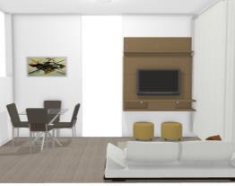 sala de estar painel