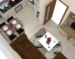 sala e cozinha nova
