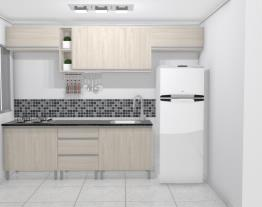 Apartamento 42m2- cozinha com lavanderia Laís