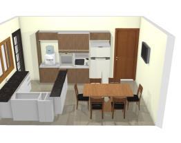 Cozinha L  armário e geladeira sala jantar 5 NEW