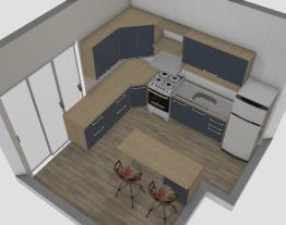 Cozinha Portas azul marinho.