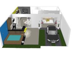 Interna ( sala, cozinha e sala de Jantar