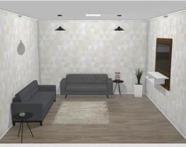 Sala de estar cinza contemporânea 1