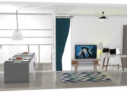 3 - sala estar / jantar / escritório