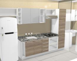 Cocina con lavandería