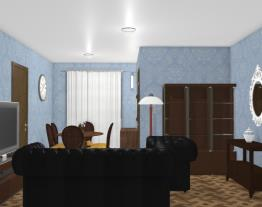 Sala Dois Ambientes Celeste