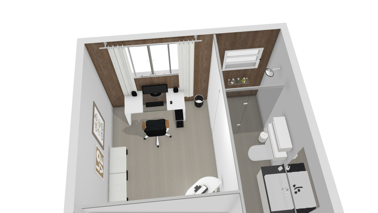 escritorio e banheiro social
