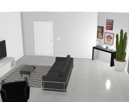 sala de estar e cozinha conjugado