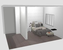 quarto mais closet, simples