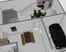 casa com area de churrasqueira 1 andar