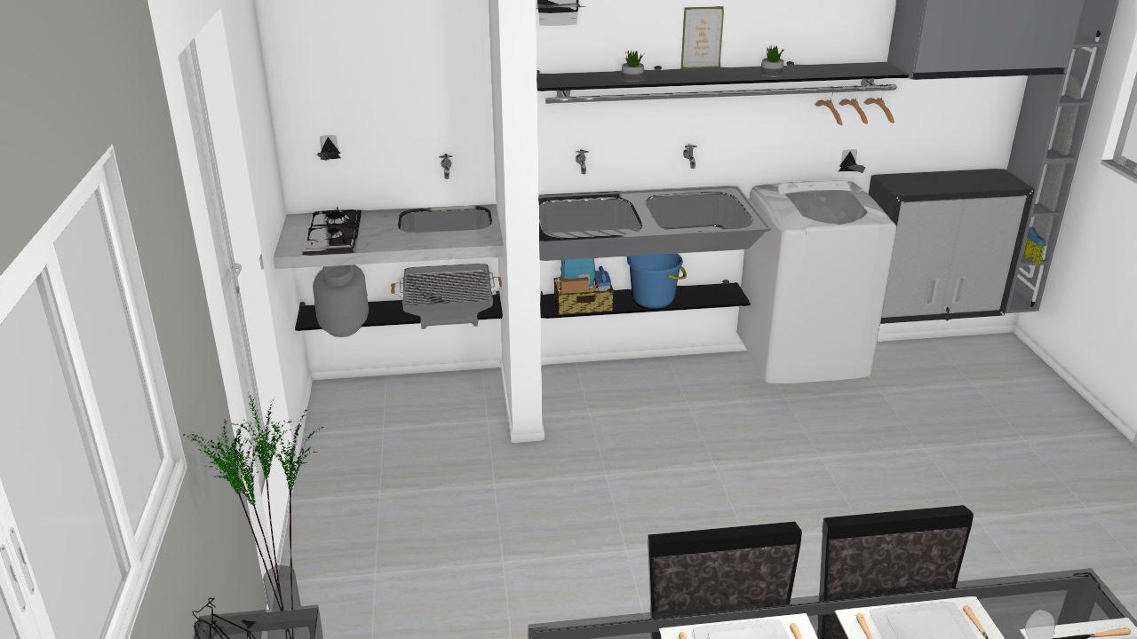 Reconstrução da Cozinha 02 - Lavanderia Ajustada