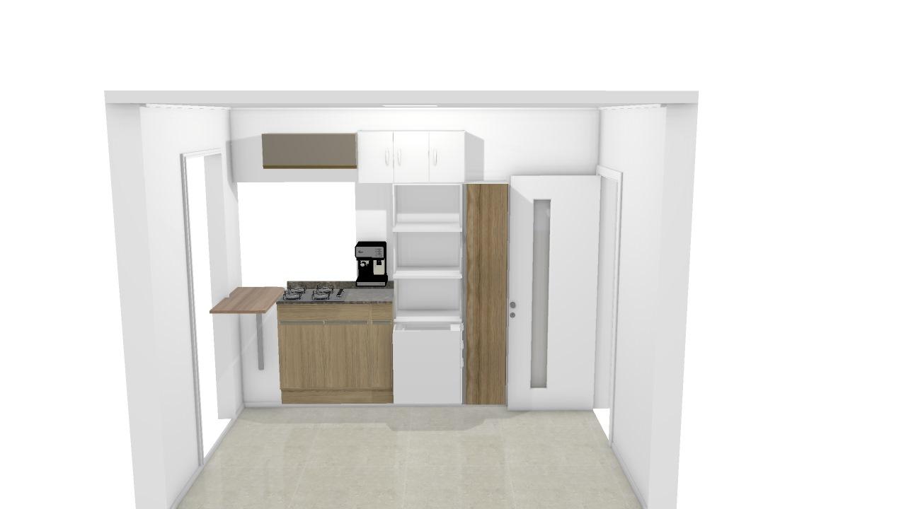 Cozinha meio aberta