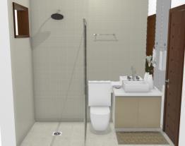 Banheiro pequeno - Graziela Lara