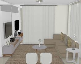 Sala de estar/TV - Designer Graziela Lara