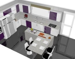 Cozinha Nice Branca e Berinjela