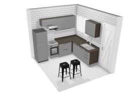 Meu projeto Itatiaia -  Cozinha pequena Gourmet G3