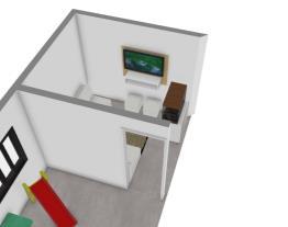 sala pequena e varanda