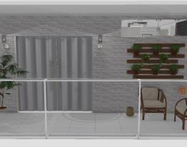 Sala/Cozinha/ Fachada