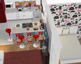 Cozinha Retro Americana + quarto
