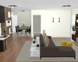 2 Salas integradas - Graziela Lara interiores