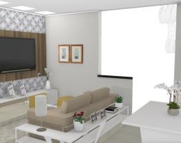 7 Salas integradas pequenas - Graziela Lara