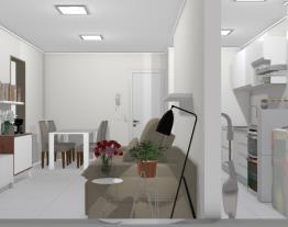 Apt 4 - Cozinha integrada a sala de estar e jantar