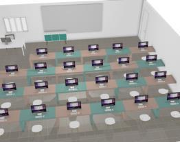 Sala de informática da escola