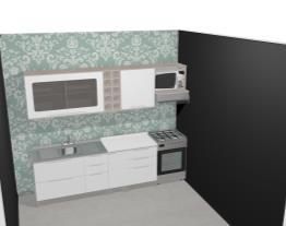 Cozinha Modulada Completa com 8 Módulos Solaris Carvalle/Branco - Kappesberg