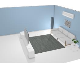 Sala de estar - simples - tamanho médio