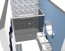 banheiro moderno azulado