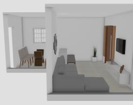 Sala com + janelas e redonda mesa