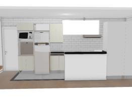 Cozinha com 2 paneleiros e granito