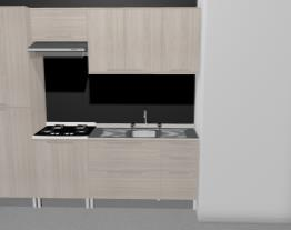 Cozinha Modulada Completa com 5 Módulos Solaris Carvalle/Branco - Kappesberg