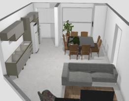 Cozinha e sala 2