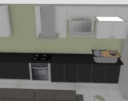 Ambiente integrado - sala, cozinha, sacada