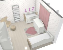 Quarto infantil provençal com cama babá