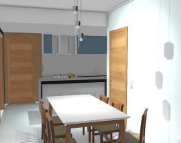 cozinha/sala desatualizada