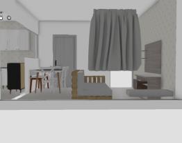 Cozinha + living sofá pallet