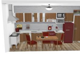 Cozinha Retrô Red