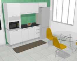 Cozinha Modulada em Aço Completa 5 Módulos Play Bege Baunilha/Branco Sal - Casamob