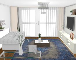 Sala de estar clássico moderno - Graziela Lara