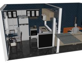 Meu projeto sala e cozinha Itatiaia