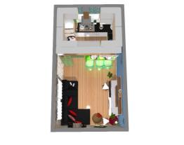 Sala cozinha conjugada .pequena ❤