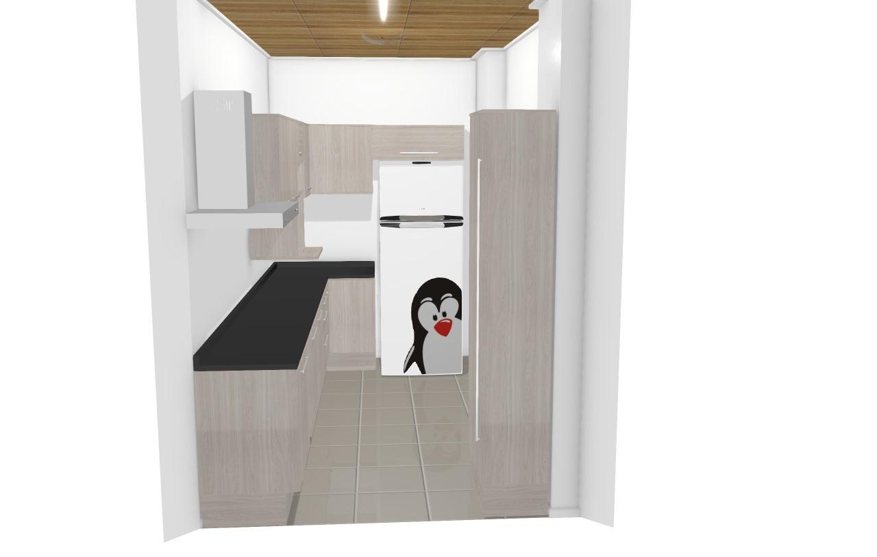Cozinha unique com canto e geladeira 3,60x2,00