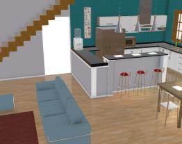 Área Cozinha/ Salas, casa Line e Le